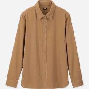 Uniqlo Flannel Long Sleeve Shirt - Camel